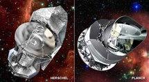 """""""Гершель"""" и """"Планк"""". Изображение ESA с сайта http://infuture.ru/"""