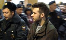 Илья Гущин в Басманном суде. Фото Грани.ру