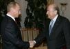 Владимир Путин и президент ФИФА Зепп Блаттер. Фото пресс-службы Кремля