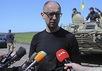 Арсений Яценюк в зоне АТО. Фото: kmu.gov.ua