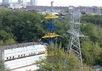 Сине-желтая опора ЛЭП в Котловке. Фото Алексея Прокопова