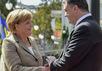 Ангела Меркель и Петр Порошенко. Фото пресс-службы президента Украины