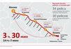Схема скоростной железной дороги Москва - Казань. Источник: hsrail.ru