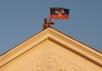 Флаг ДНР в Комсомольском. Фото: Геннадий Дубовой/vk.com