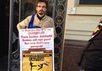 """""""Православный"""" активист в пикете против фестиваля """"Квирфест"""". Фото с ВК-страницы проекта Out Loud"""