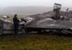 На месте катастрофы самолета Falcon. Кадр видеозаписи