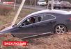 Автомобиль Моисеева после покушения. Кадр LifeNews