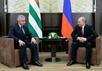 Рауль Хаджимба и Владимир Путин. Фото пресс-службы Кремля