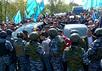 Противостояние в Крыму 3 мая 2014 года. Кадр Euronews