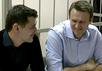 Братья Навальные в зале суда. Кадр Грани-ТВ