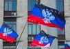 Флаги ДНР. Фото: tsn.ua