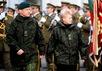 Даля Грибаускайте и министр обороны Литвы Арвидас Поцюс. Фото: kam.lt