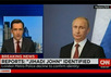 """Владимир Путин на фоне кадра CNN с надписью """"Личность Джихади Джона установлена"""""""
