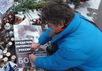 Пропутинская акция на месте убийства Бориса Немцова. Фото с ВК-страницы Георгия Тарасевича