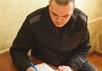 Алексей Сутуга в ИК-14 в Ангарске. Фото с ФБ-страницы Святослава Хроменкова