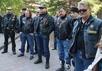Байкеры у здания Омского аграрного университета. Фото: omskinform.ru