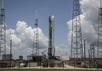 Falcon 9 и Dragon перед неудачным стартом, 27.06.2015. Фото: livestream-страница SpaceX