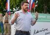 Леонид Волков на сходе в Новосибирске, 11.08.2015. Фото: leonidvolkov.ru
