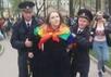Задержание Софии Грозовской на Первомае прогрессивных левых. Фото Юрия Тимофеева/Грани.Ру