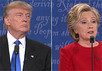 Дебаты между Дональдом Трампом и Хиллари Клинтон. Кадр CNN