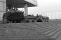 Наутро бой в Останкино стих, телецентр охраняли подошедшие ночью БТРы.