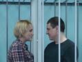 Алексей Соколов в зале суда с женой Гулей. Фото http://mcpch.livejournal.com/