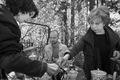 Юлия Башинова и Максим Громов в гостях у Лии Ахеджаковой. Фото Владимира Телегина