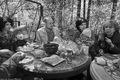 В гостях у Лии Ахеджаковой. Слева направо: Юлия Башинова, Максим Громов, Артем и Наталья Пичугины. Фото Владимира Телегина