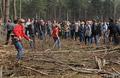 Защитники Цаговского леса. Фото Вероники Максимюк/Грани.Ру