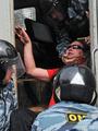 Задержания в Цаговском лесу. Фото Вероники Максимюк/Грани.Ру