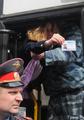 Задержание журналистки в Цаговском лесу. Фото Вероники Максимюк/Грани.Ру
