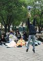 Лагерь на Чистых прудах. Утро 10 мая. Фото В.Максимюк/Грани.Ру