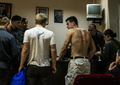 Денис Луцкевич в ОВД после задержания на Болотной. Фото Дениса Бочкарева