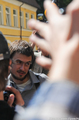 Петр Верзилов у Таганского суда. Фото Вероники Максимюк/Грани.Ру