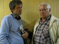 """Сопредседатель профсоюза """"Учитель"""" Андрей Демидов и профессор Александр Самохин (справа). Фото Наталии Деминой"""