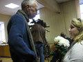 Лев Рубинштейн и Ирина Левонтина в Зюзинском суде. Фото Наталии Деминой