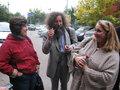 После заседания. Ирена Артамонова, Михаил Гельфанд, Ирина Левонтина. Фото Наталии Деминой