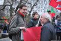 Акция в защиту антифашистов. Пострадавший Василий Кузьмин. Фото Л.Барковой/Грани.Ру