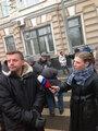 Марш против подлецов: Леонид Парфенов и Ирина Скабеева. Фото Л.Барковой/Грани.Ру