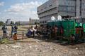 Гольяновский лагерь мигрантов. Электричество охраняется омоном. Фото Юрия Тимофеева/Грани.Ру