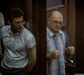 Сергей Кривов (справа) и Ярослав Белоусов в суде. Фото Александра Барошина