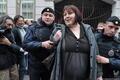 Задержание Надежды Митюшкиной у Замоскворецкого суда в день приговора Михаилу Косенко. Фото Людмилы Барковой