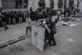 "Столкновения на Банковой улице. Фото РИА ""Новости"""