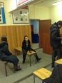 """Участники акции на """"Комсомольской"""" в полиции. Фото: Елена Глушко"""