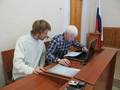 Защитники Александр Конякин и Константин Рогалев. Фото Елены Санниковой