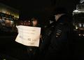 Гражданский активист Андрей Семенов на Триумфальной 31.12.2013. Фото Евгении Михеевой/Грани.Ру