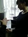 Александра Духанина (Наумова) готовится к последнему слову. Фото Дмитрия Борко/Грани.Ру