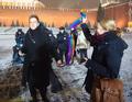 Шведские ЛГБТ-активистки на Красной площади 7 февраля. Фото: Ю.Тимофеев/Грани.Ру