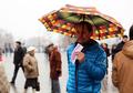 "Флэшмоб на Манежной в защиту ""Дождя"". Фото Евгении Михеевой/Грани.Ру"