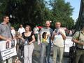 Андрей Миронов и Елена Рябинина на акции памяти Натальи Эстемировой. Фото Андрея Налетова